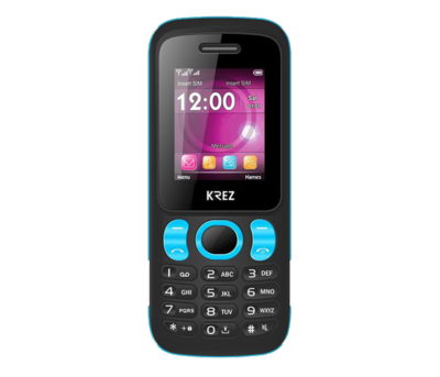 Mobile phone KREZ PL104BL DUO (black&blue)