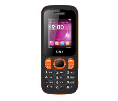 Mobile phone KREZ PL104BO DUO (black&orange)