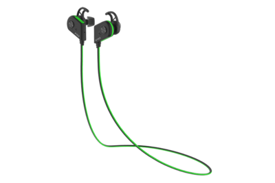 Bluetooth earphones KREZ SPORT EP05, black & green