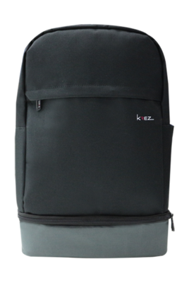 KREZ BP04 backpack, classic, 15.6, black/grey, nylon